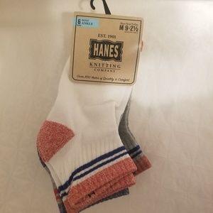 Hanes Boys Ankle socks 6 pack size M 9-2 1/2